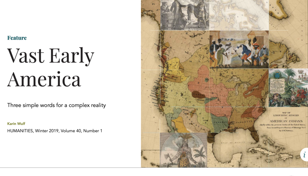 Vast Early America - Karin Wulf